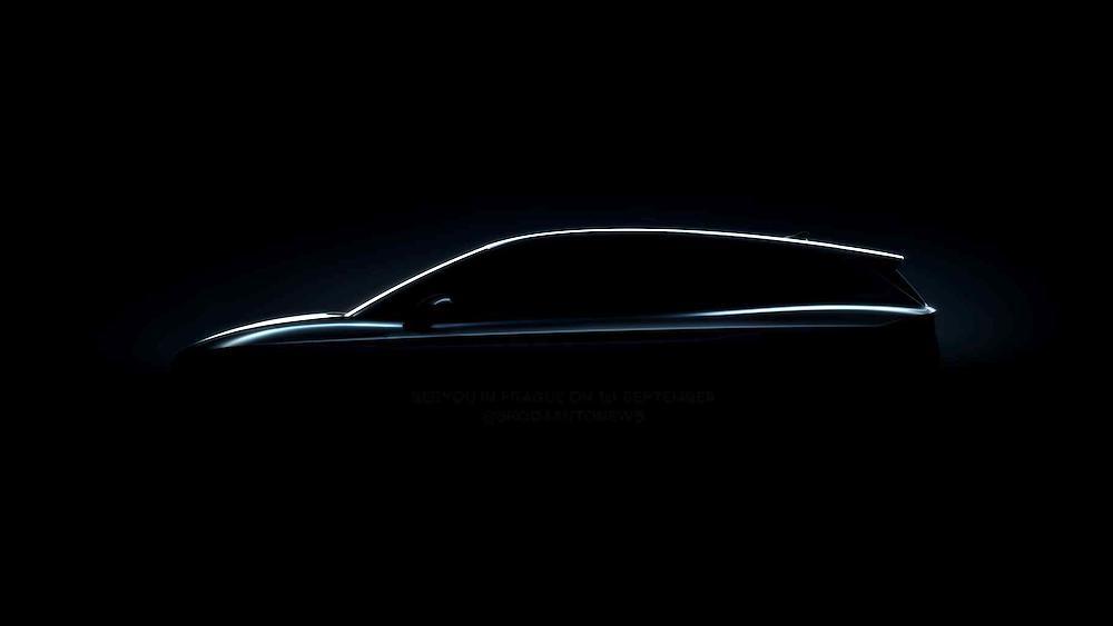 La silhouette offre un primo sguardo sul nuovo Suv completamente elettrico di Škoda
