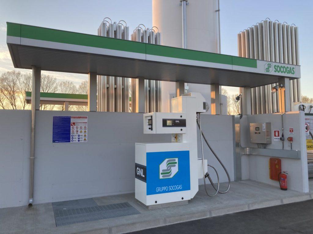 distributore metano socogas a fidenza